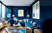 Dark blue color in the interior