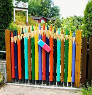 Забор-карандаш