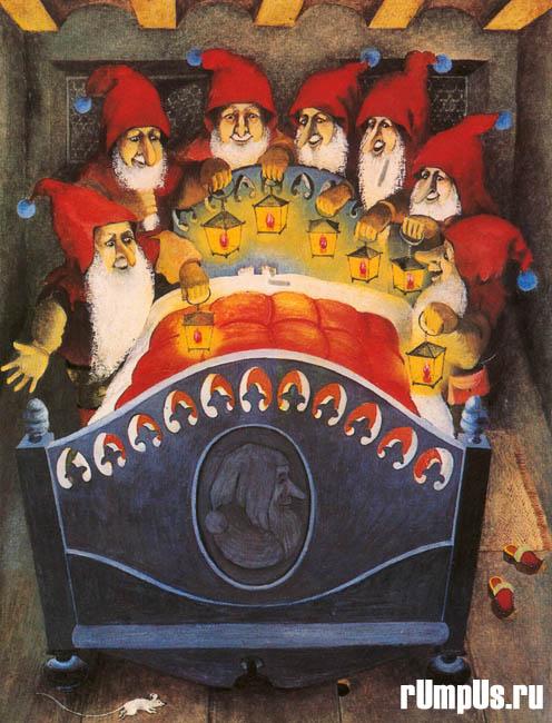 Советские открытки. Братья Гримм: Золотой Гусь. Снегурочка
