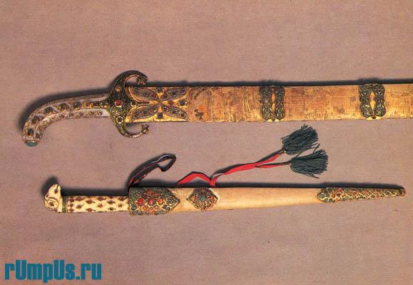 Нож в ножнах. Средняя Азия. XVII—XVIII вв.