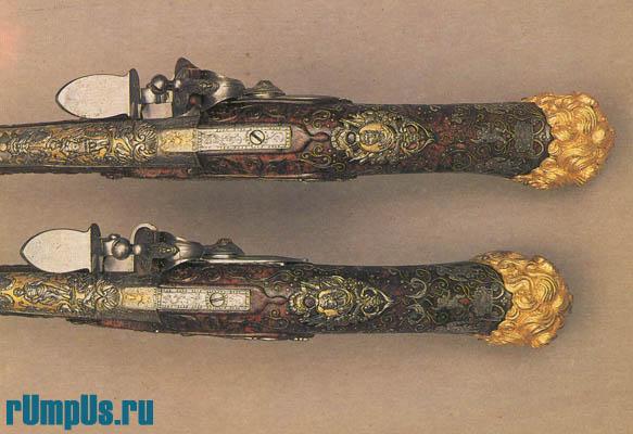 Пистолеты с кремневыми замками  Италия. Брешиа. 1700 г.