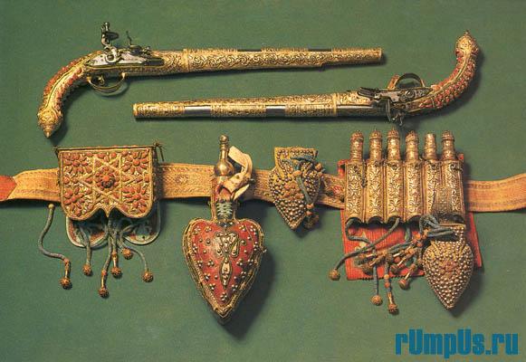 Ружья и пистолеты с кремневыми замками Турция. Трапезунд. 60-е годы XVIII в.