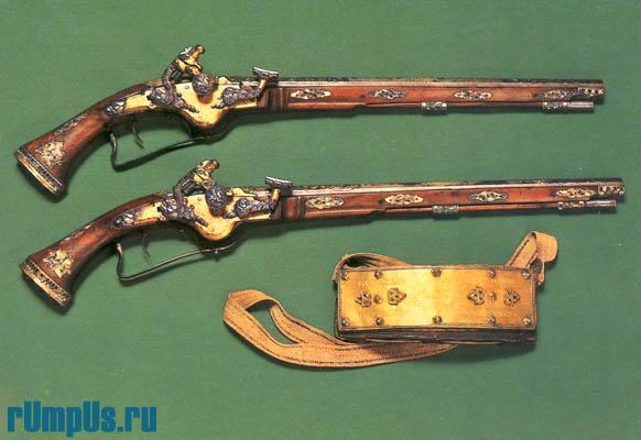 Пистолеты с кремневыми замками Москва. Оружейная палата. Вторая половина XVII в.