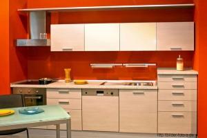 Однорядная планировка кухни