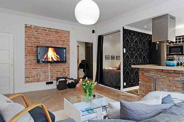 Квартира-студия для молодой семьи30 кв.м