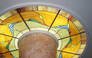 Витражные потолки с подсветкой