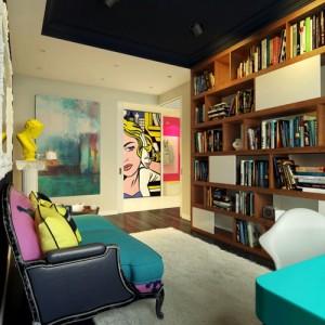 Дизайн библиотеки в маленькой квартире