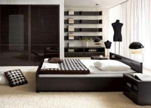 Темная мебель для спальни