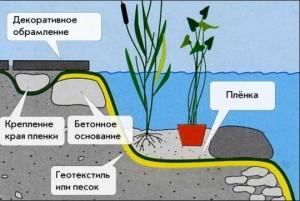 Схема водоема