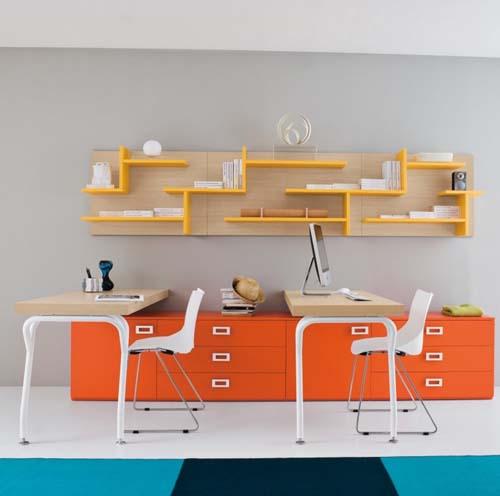 Письменный стол для двоих детей