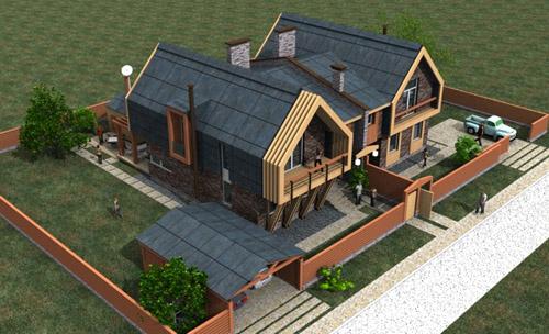 Проекты дуплекс домов