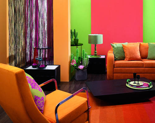 Краски в дизайне интерьера