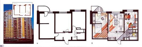 Планировка двухкомнатных квартир в многоэтажных домах