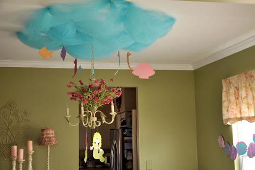 Как декорировать потолок для праздника