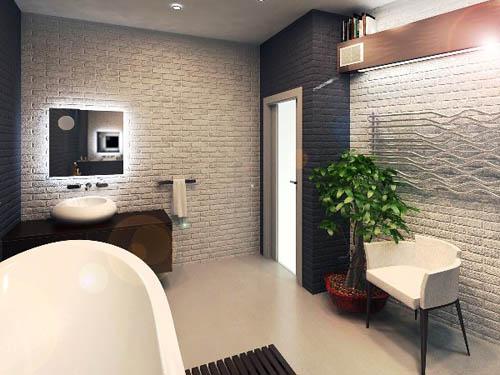 Интерьер в стиле лофт - ванная комната