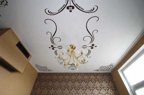 Трафарет для декорации потолка