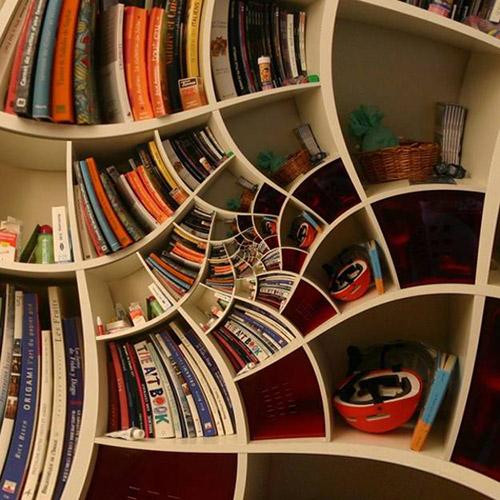 Книги в интерьере9