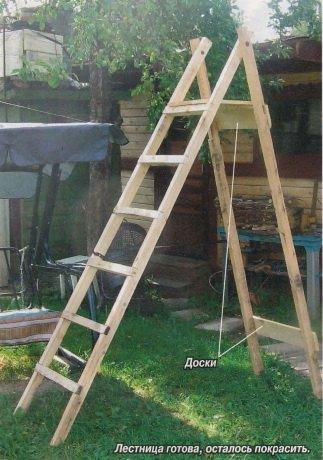 Лестница-стремянка своими руками