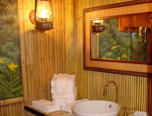 Отделка стен бамбуком