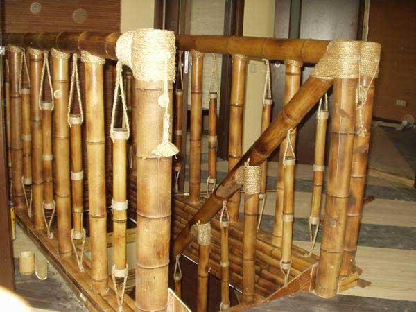 Перила из бамбука