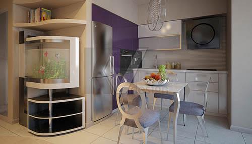 кухня студия дизайн чешской планировки1