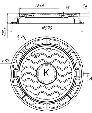 Схема канализационного люка