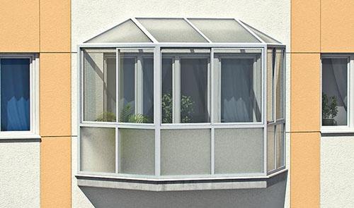 Французское остекление балконов и лоджий от пола до потолка - фото2