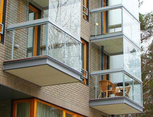 Французское остекление балконов и лоджий от пола до потолка - фото3