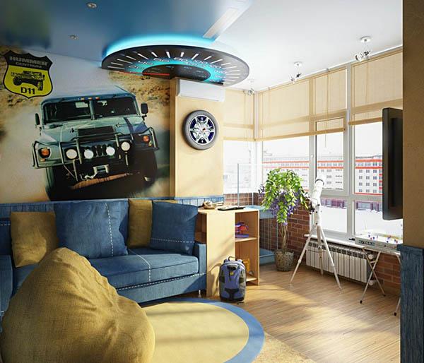 Дизайн-проект интерьера комнаты для подростка или юноши