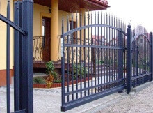 Откатные ворота - дизайн