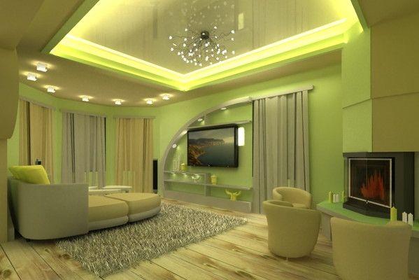 Гостиница в зеленых тонах