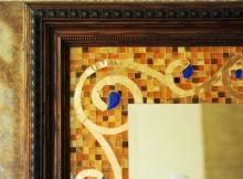 Зеркало в прихожей - украсить мозаикой