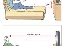 Расстояние от телевизора
