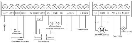 Схема подключения сигнальной лампы