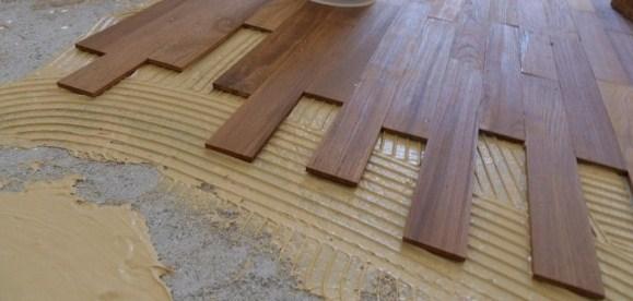 Укладка паркетной доски на бетон