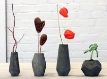 Стильная самодельная ваза - бетон