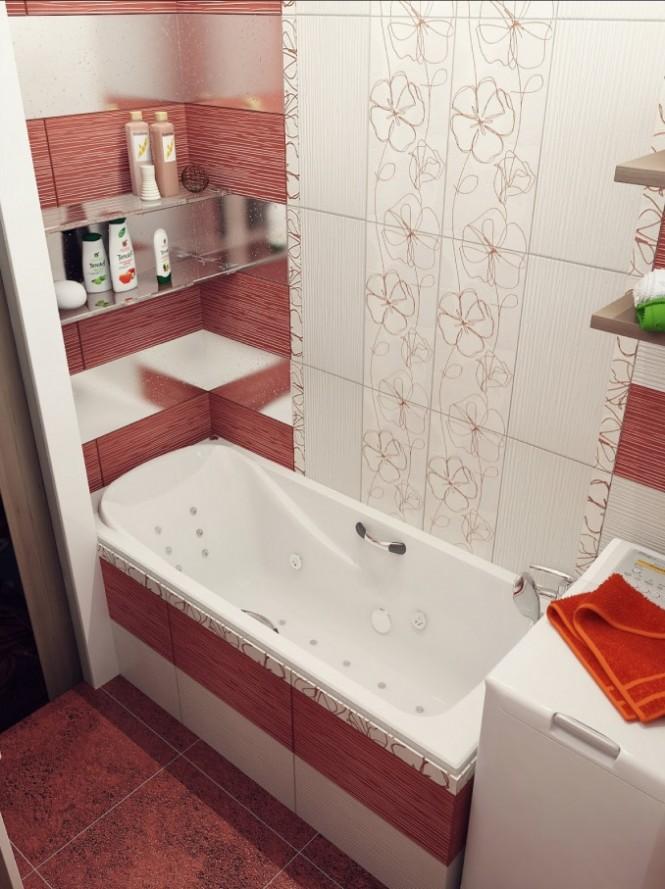Ванная с полосами
