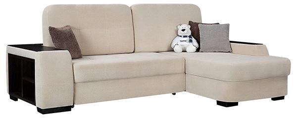 Угловой диван из флока